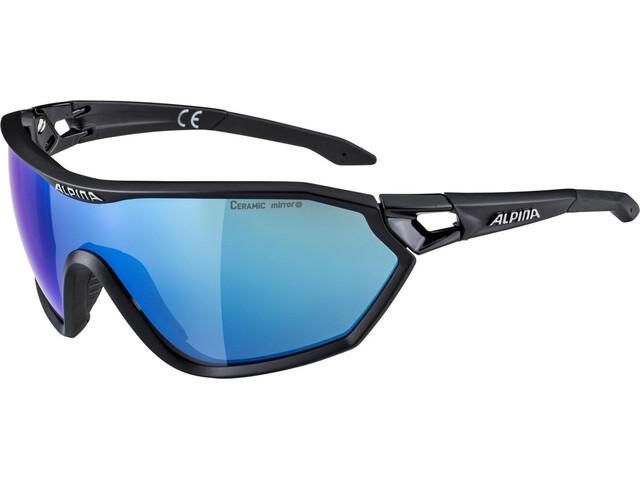 Alpina S-Way L CM+ Occhiali, black matt
